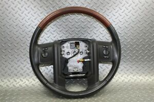 07 14 Expedition King Ranch Wood Grain Steering Wheel Radio Cruise Control Oem