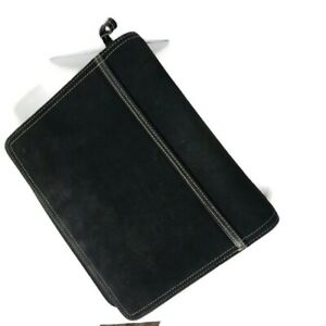 Vintage Franklin Covey Planner Leather Suede Black 7 1 5 Rings