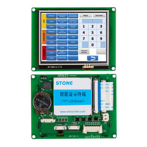 Industrial 3 5 Hmi Lcd Touch Monitor With Serial Interface For Equipment Panel
