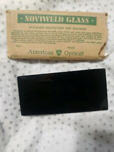 Vintage American Optical Noviweld Glass Shade No 9 Welding Helmet Lens