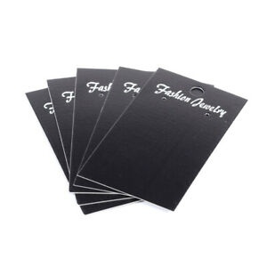 1000x Black Rectangle 3 hole Jewelry Earring Displays Cards Hanging Holder 9x5cm