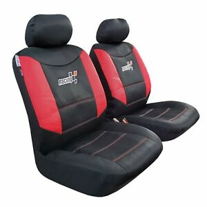 Front Seat Cover Mesh Red Black For Toyota Tacoma 1999 2019 Trd Racing Sports