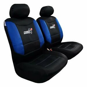 Front Seat Cover Mesh Blue Black For Toyota Tacoma 1999 2019 Trd Racing Sports