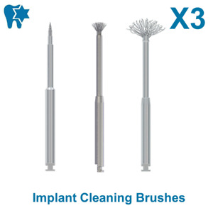 Dsi Dental Peri implantitis Debridement Implant Surface Threads Cleaning Brush