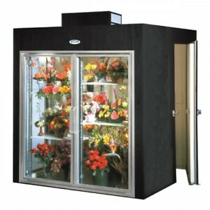 Floral Refrigerator Two Door Display Cooler With Rear Walk In Storage