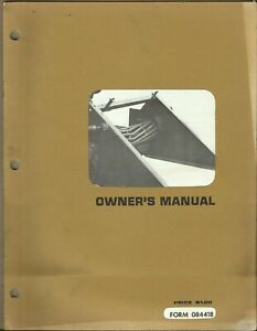 Hesston Hay Conditioner 280 Form 084418 Tractor Owner s Manual