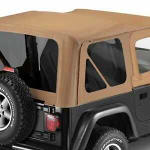 Bestop 51124 37 Soft Top Replace A Top Polymer Cloth Spice Tinted Windows Jeep
