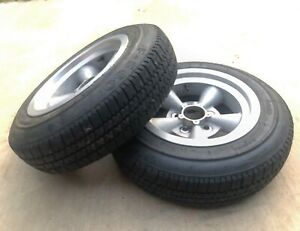 Et V Torq Thrust Style 14x5 5 Wheels tires 5x4 5 Ford Dodge Plymouth 155r14