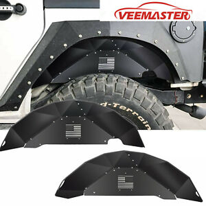 Rear Inner Fender Liners Off Road Accessories For 2007 2018 Jeep Wrangler Jk 4wd