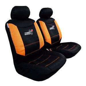 Front Seat Cover Mesh Orange Black For Toyota Tacoma 1999 2019 Trd Truck Pickups