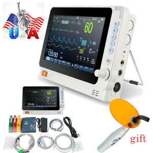Portable Vital Signs Dental Patient Monitor Cardiac Multi paras Alarm Battery