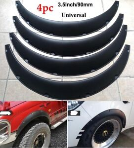 4pcs 3 5 90mm Universal Flexible Car Fender Flares Extra Wide Body Wheel Arches