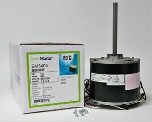 Air Conditioner Condenser Fan Motor 1 4 Hp 230 Volts 825 Rpm Em 3404