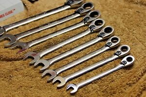 Blue Point Boer708 8 Pc Ratcheting Wrench Set 5 16 3 4 Great Condition