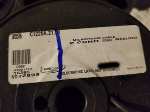 Carol C1228a 24 2c Premium Fine Stranded Shielded Microphone Cable Black 100ft