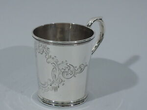 Tiffany Mug 6974 Antique Baby Cup American Sterling Silver Early 1854 65