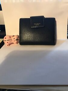 Kate Spaade Black Leather Business Credit Card Holder Case Nootebooc New