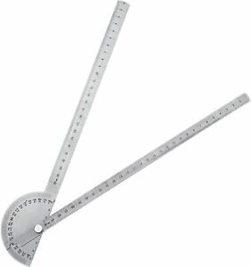 30cm Stainless Steel 180 Degree Protractor Angle Finder Arm Rotary Measuring