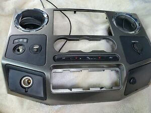 2008 2009 2010 Ford F250 F350 Super Duty Dash Radio Climate Control Bezel Trim