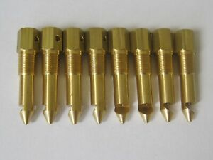8pc Brass Hat Top Nozzle Bodies Injector Blower Enderle Dragster Drag Boat