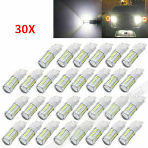 30 Pcs White 3157 3457 3057 Signal 33smd Backup Reverse Tail Turn Led Light Bulb