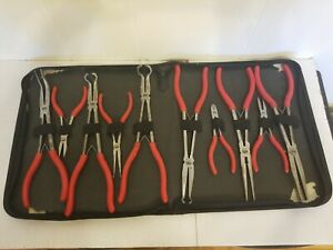 Mac Tools 10 Piece Assorted Pliers Set Includes Case P301756
