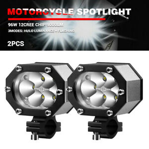 2x Car Motorcycle Headlight Spot Fog Lights Cree Led Front Head Lamp 12v 60v Atv