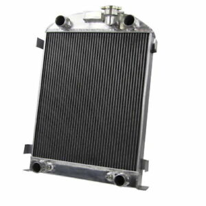 Asi 4 Row Aluminum Radiator Fit 1932 Ford Flat Head V8 Engine 30 31 Ford Model A