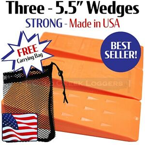 3 5 5 Usa Hard Logging Felling Bucking Tree Forestry Falling Spiked Wedges