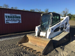 2015 Bobcat T770 Compact Skid Steer Loader W Cab 2spd High Flow 2000hrs