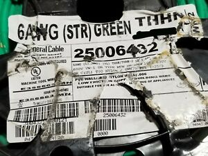 General Cable 6awg Thhn thwn 2 Stranded Copper Building Wire Green 50ft