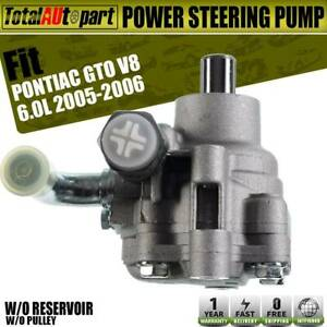 Power Steering Pump W O Reservoir And Pulley For Pontiac Gto 2005 2006 92161580