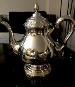 Vintage Silver Plated Teapot Rogers Brothers 847 Remembrance 9