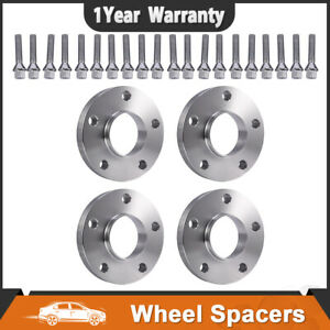 4 20mm 5x120 Hub Centric Wheel Spacers 5 Lugs W 12x1 5 Cone Seat For Bmw