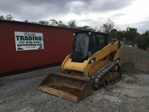 2015 Caterpillar 259b3 Compact Track Skid Steer Loader W Cab 2spd New Tracks