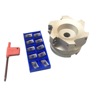 Bap 400r 80 27 6f Indexable Face End Mill Cutter For Roughing Fishing Mining
