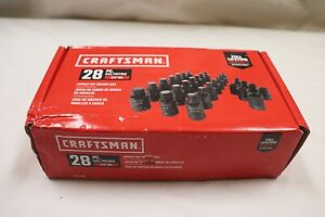 Craftsman Cmmt42031 Sae Metric 1 2 Drive Impact Bit Socket 28 Piece Set New