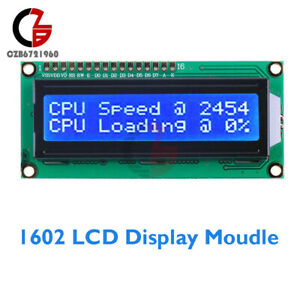 1602 Lcd Display Module 16x2 Character Blue Backlight Hd44780 Controller Arduino