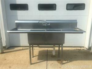 Turbo Air 72 Commercial Stainless Steel Two Compartment Sink