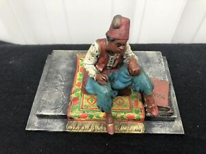 Franz Bergman Style Patinated Polychrome Paperweight 4 1 2 X 6 1 4 X 4 1 4
