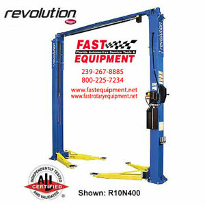 Rotary R10 10 000 Lbs Capacity 2 Post 3 Stage Front Arms Car Truck Lift