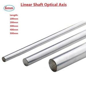 Od 6mm Cylinder Liner Rail Linear Shaft Optical Axis L100 200 300 400 500mm