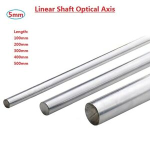 Od 5mm Cylinder Liner Rail Linear Shaft Optical Axis L100 200 300 400 500mm