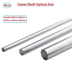 Od 4mm Cylinder Liner Rail Linear Shaft Optical Axis L100 200 300 400 500mm