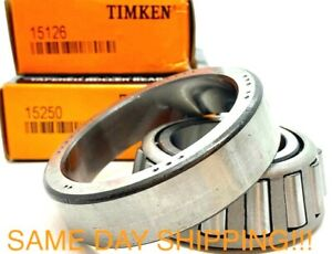 Taper Roller Bearing Timken 15126 15250 New Cone Cup Set Same Day Shipping
