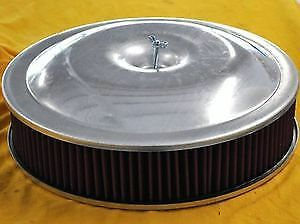 14 X 3 Spun Aluminum Washable Air Cleaner Filter Reusable Oiled