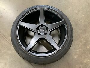 2015 2019 Ford Mustang Gt Niche Wheel tire 20x9 Inch Black 245 40 20 Nitto Tire