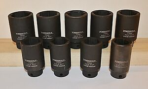 Reduced Limited Time Powerbuilt 9 Piece Metric Impact Axle Nut Socket Set