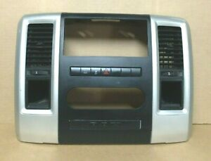 2011 Dodge Ram 1500 Radio Face Plate With A c Vents Oem