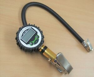 Air Tire Inflating Inflator Digital Lcd Gauge 220psi